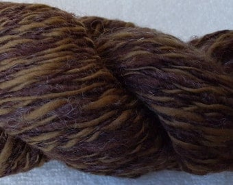 Bouncy - Hand Spun Natural Border Leicester Lamb, Fine Merino Wool, 8-10 ply DK - worsted – Brown