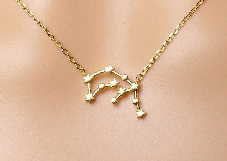 aquarius constellation necklaceaquarius necklace zodiac