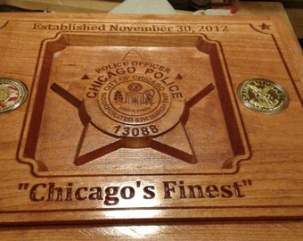 "Custom Carved Cigar Humidor featuring  Oak box lined with 1/4"" Spanish Cedar"