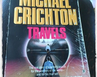 TRAVELS Paperback Book  SIGNED  by Michael Crichton     *SIGNED 1st Edition*    Collector Edition