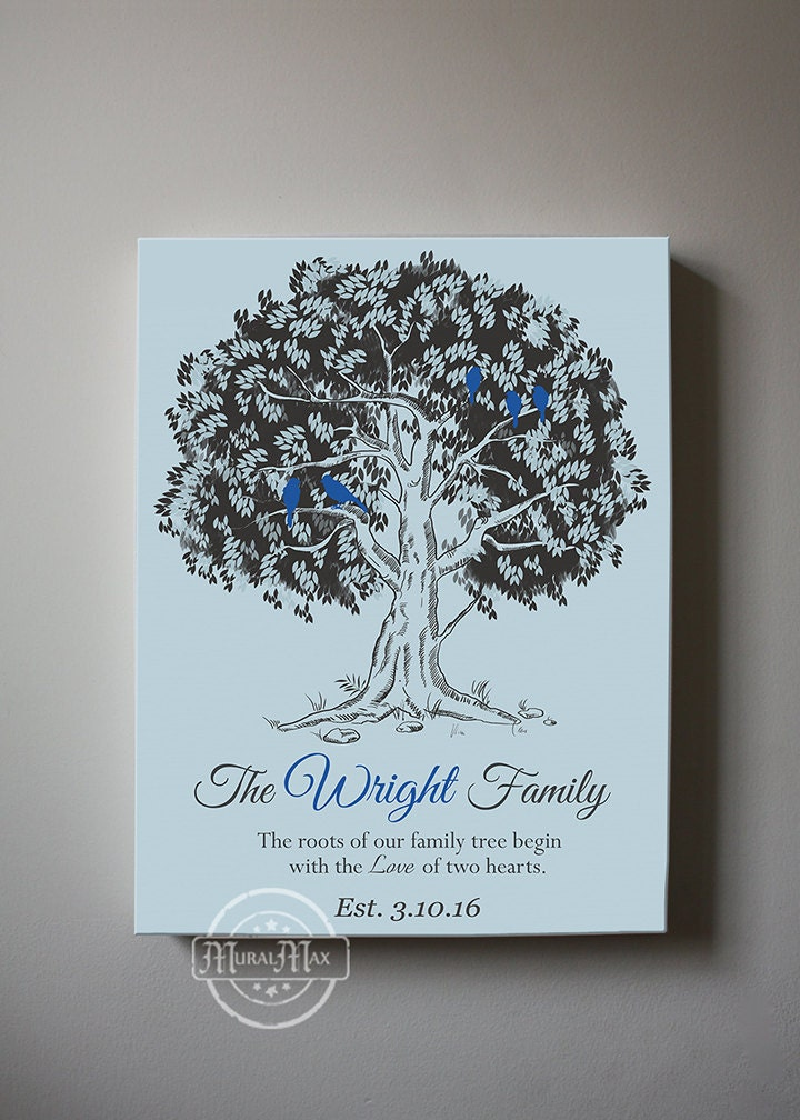Personalized family tree gift custom wedding gift for family for Family tree gifts personalized
