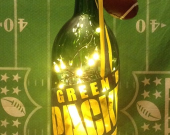 Green Bay Packers Lighted Wine Bottle 1.5 Liter