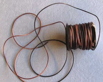 4 Yards 1.5 mm Gypsy Sippa Dyed Leather Cord, Round Leather Cord