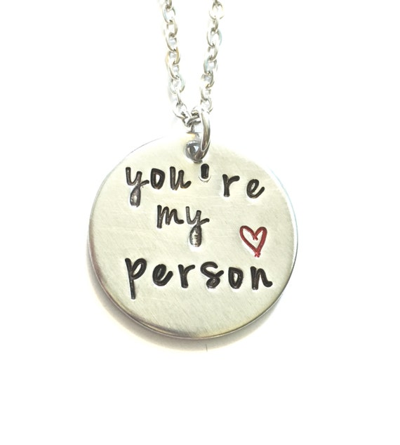you re my person best friends necklace by dotsofsugar on etsy