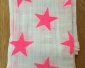 Lunchbox cloth napkins neon pink