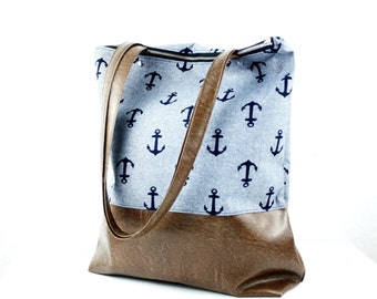 Indigo anchor handbag Messenger bag