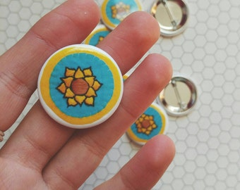 "Sunflower Pin-Back Button (1.25"")"