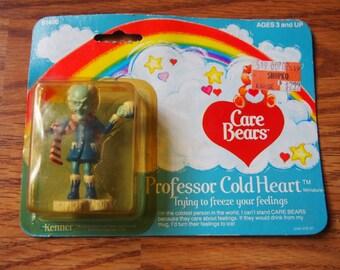 Vintage Care Bears Professor Cold Heart PVC Figurine