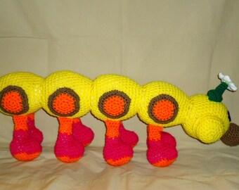 Wiggler pattern - crochet worm pattern - big crochet caterpillar pattern - crochet doll pattern - bug amigurumi pattern Instant Download