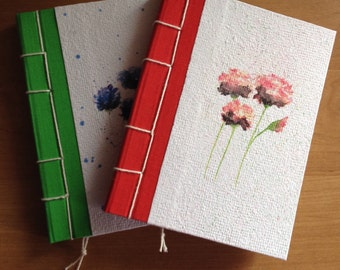 "Recycled paper notebook ""flower"""
