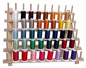Machine Embroidery Thread 500M Set - 40 Vibrant Colors - Fits Brother & More - Set A