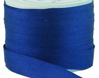 11 Yds (10 M) Embroidery Silk Ribbon 100% Silk 7mm - Sapphire Blue -By Threadart