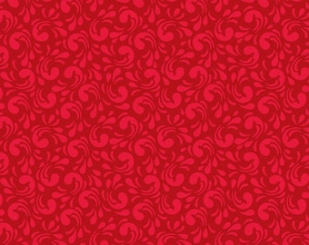 AdornIt Fabrics - Chamberry Hill Twirl Red 00382 - Quilting Fabric, Calico