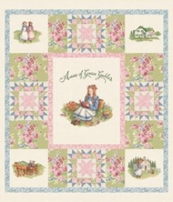 Last one penny rose anne of green gables panel p5869 cream for Anne of green gables crafts