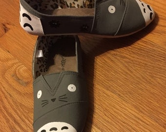 Totoro shoes hand painted