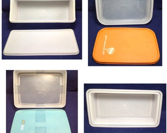 Vintage Tupperware Rectangle Containers, Vintage, SEVEN PIECES