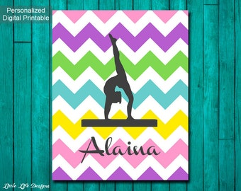 Personalized Gymnast Sign. Gymnastics Wall Art. Gift For Gymnast. Gymnastics  Party Decor.