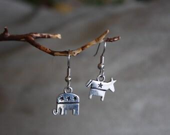 Non-partisan  earrings