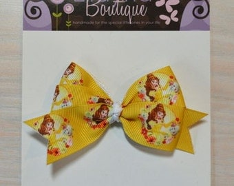 Boutique Style Hair Bow - Disney Princess, Belle