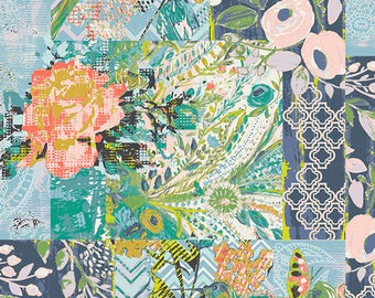 Half Yard - 1/2 Yard of Collage Poise Deco  - MILLIE FLEUR by Bari J.  for Art Gallery