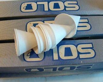 Vintage Solo paper cone cups, cone water cups, candy cups, Solo paper cone cups, 6 boxes, 1147 cups