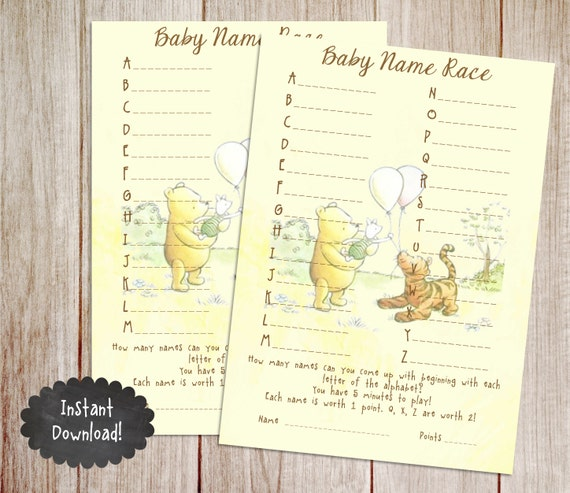 baby shower game printable winnie the pooh baby shower game classic
