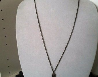 Long Necklace with Cross Pendent