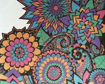 Hand drawn Metallic Zentangle doodle