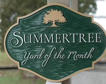Community or Neighborhood Yard of the Month Custom Sign