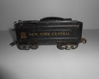 Vintage 40s 50s Tin Louis Marx  New York Central Marlines Coal Train Car