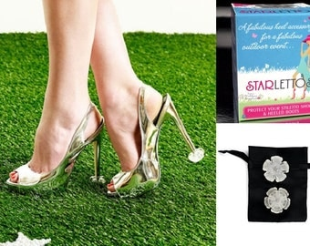 Starlettos Crystal Clear Heel Protectors Stiletto Tips Genuine Starletto, FREE SHIPPING Australia Wide