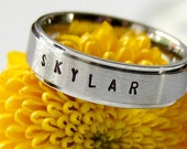 Hand Stamped Ring, Personalized Ring, Name Ring, Hand Stamped Jewelry, Personalized Stamped Ring, Kids Name Ring, Custom Ring, Name Jewelry