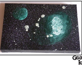 Glow in the Dark Galaxy Canvas Painting