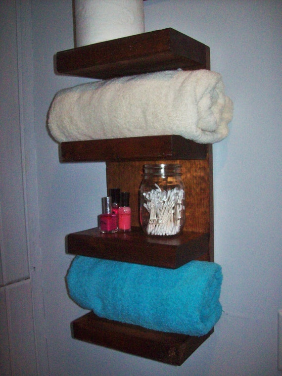 Items Similar To Hotel Style Wooden Bathroom Towel Shelf
