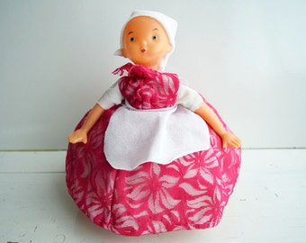 Vintage Russian Soviet Era Plastic Doll Tea Cozy/Teapot Cover/Teapot Warmer