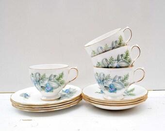 Vintage Crown Royal Bone China Made in England Tea Set