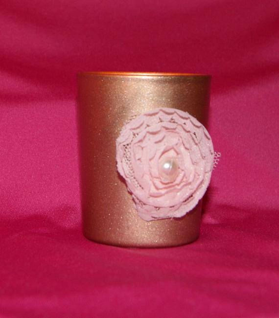 rose gold wedding wedding votive candle holder blush. Black Bedroom Furniture Sets. Home Design Ideas