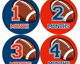 Baby Boy Monthly Baby Stickers Baby Month Stickers Football Stickers Monthly Photo Stickers Monthly Milestone Stickers 1003