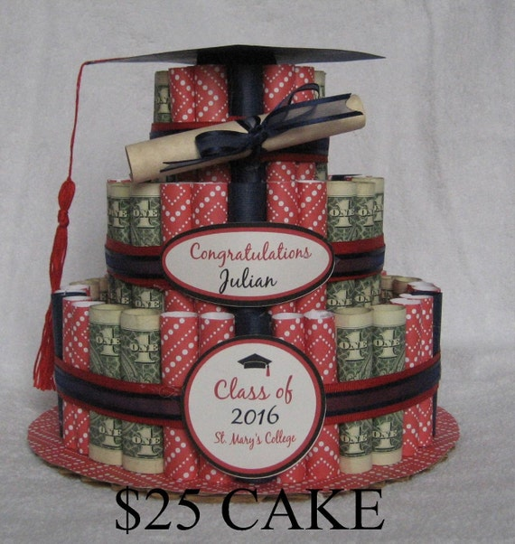 Items Similar To Money Cake Small Quot Graduation Class Of