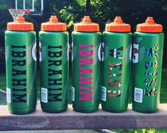 Personalized 32 oz gatorade water bottle