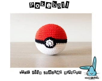 Pokemon Go app inspired - Pokeball amigurumi crochet pattern. PDF file only! ENG