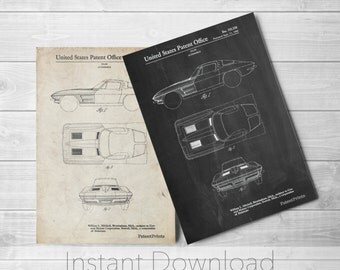 1962 Corvette Stingray Printables, Car Enthusiast, Garage Decor, Corvette Art, PP0090