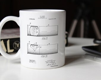 Shotgun Shell Patent Mug, Artillery Shell, Gun Mug, Duck Hunting Decor, PP1033