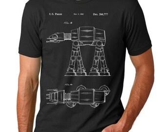 Star Wars AT-AT Walker Patent T Shirt, Star Wars Shirt, Star Wars T Shirt, Starwars Gift, Starwars Shirt, PP0224