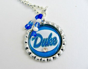 Duke University Necklace, Duke University Accessories, Duke Blue Devils, Duke Accessories, College Jewelry, College Girl Gift, Duke Jewelry