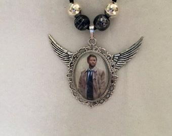 Castiel Supernatural Wings Pendant Necklace