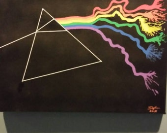 Pink Floyd Dark Side of the Moon Canvas Painting