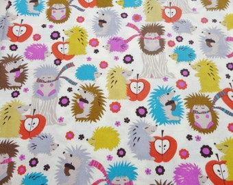 Clearance! Fitted Crib Sheet - Hedgehogs - Gender Neutral - Ready to Ship