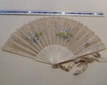 Ladies antique hand held fan, wedding fan