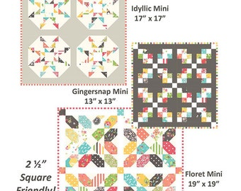 Sweetness by Coriander Quilts, a trio of mini quilts